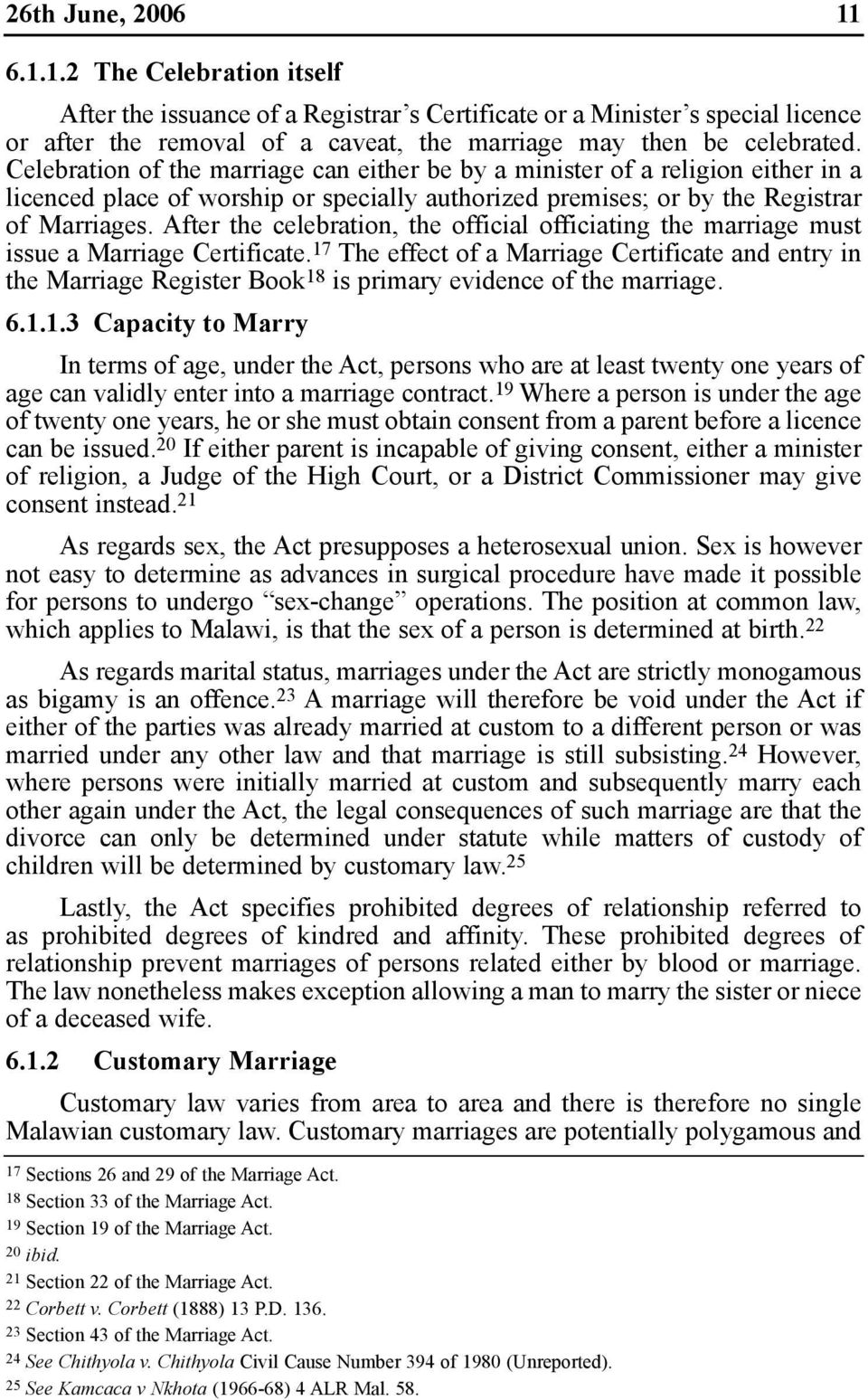capacity for marriage