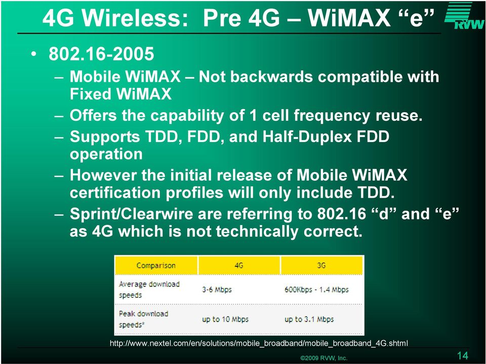 Supports TDD, FDD, and Half-Duplex FDD operation However the initial release of Mobile WiMAX certification profiles