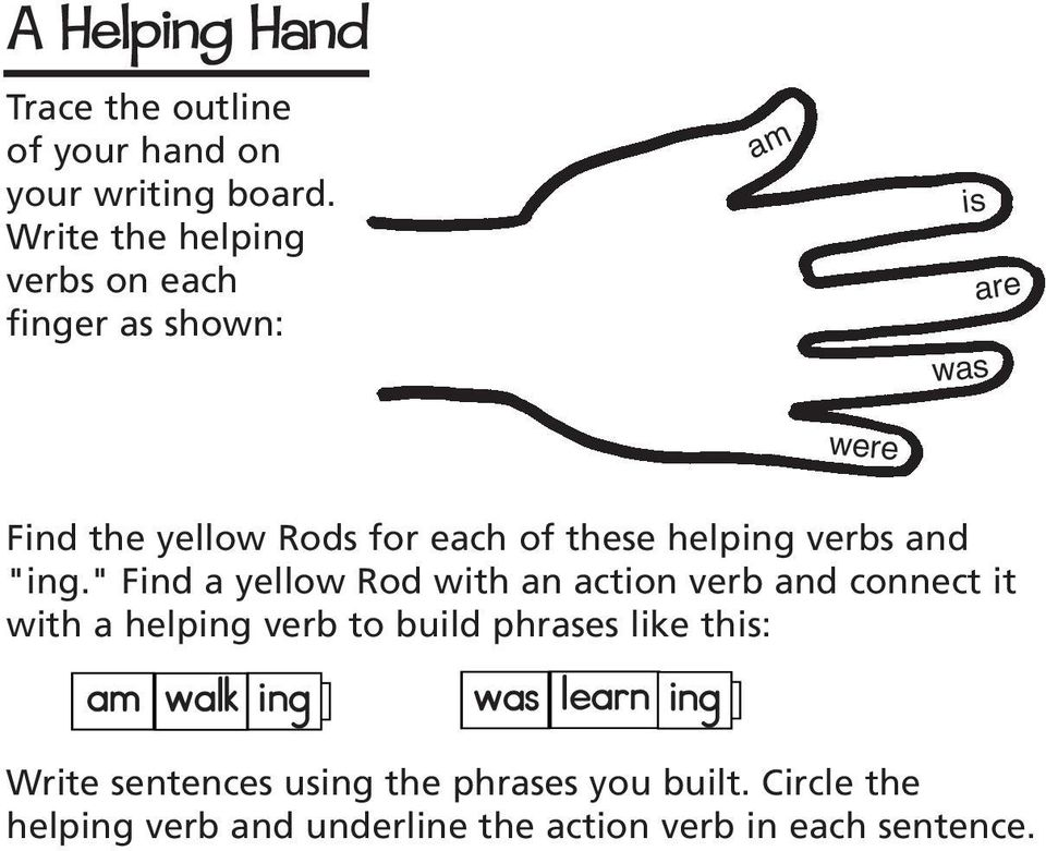 "helping verbs and ""ing."