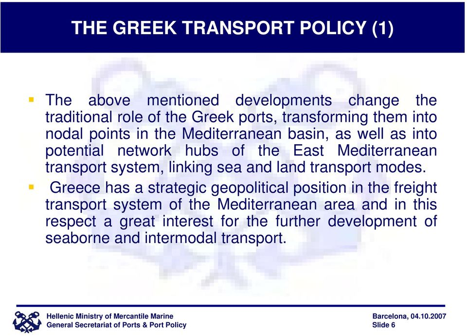 and land transport modes.