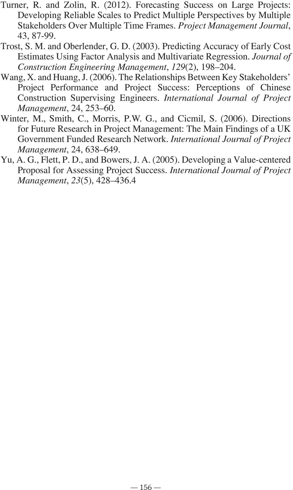 Project Management International Journal of Project