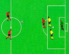 The player that lost possession has to sprint back to help defend. Defend Counter Attack Length Breaks Two defender stand near the edge of the penalty box with a single attacker just in front of them.
