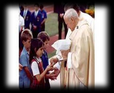 Receiving Holy Communion Children and adults are free to receive communion either by the hand or on the tongue.