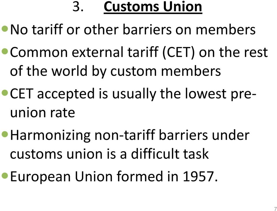accepted is usually the lowest preunion rate Harmonizing non-tariff