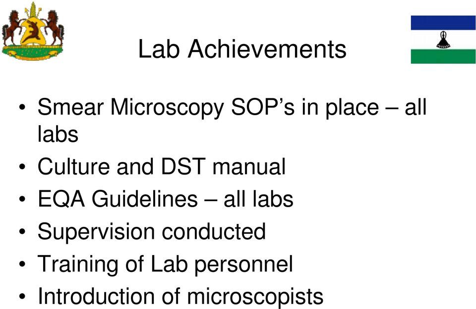 Guidelines all labs Supervision conducted
