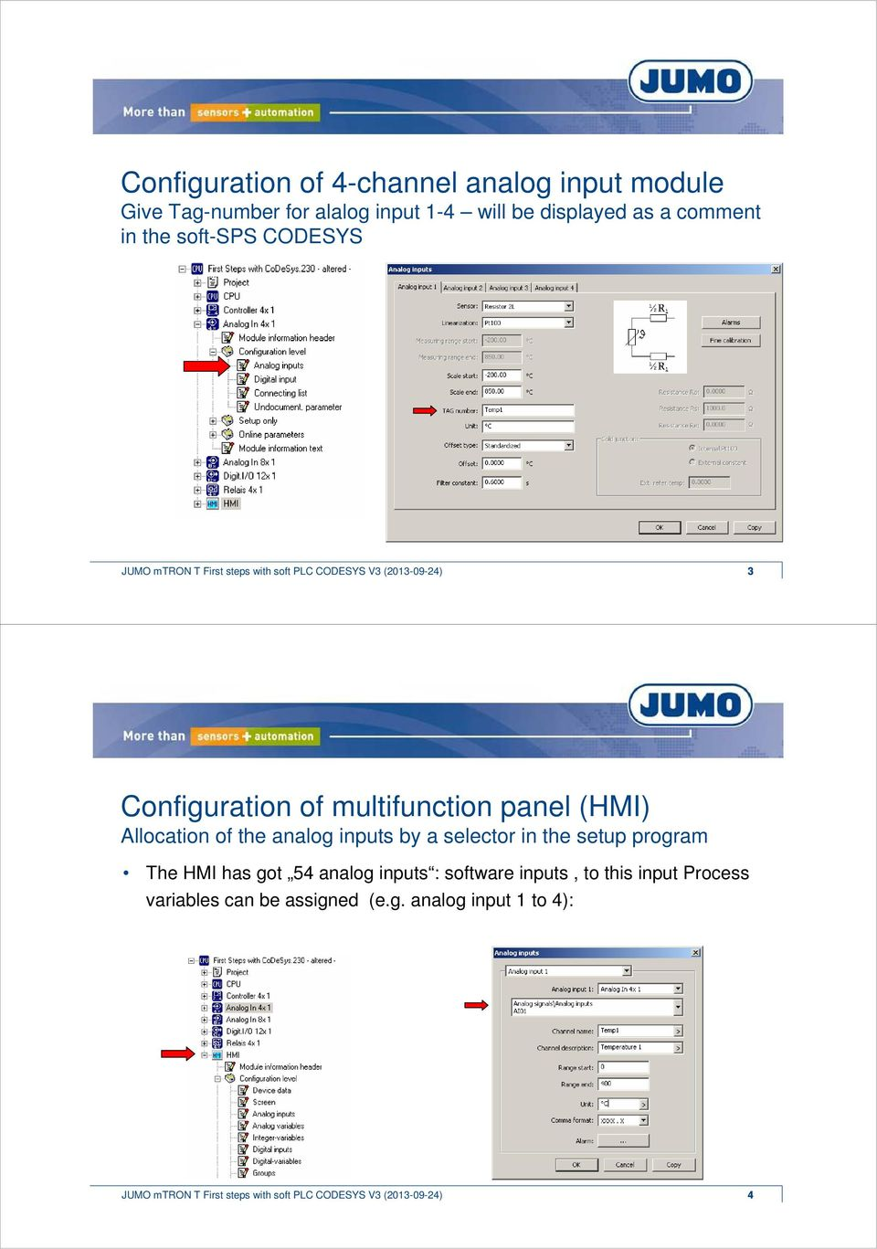 Welcome  JUMO mtron T  Average calculation  First steps with