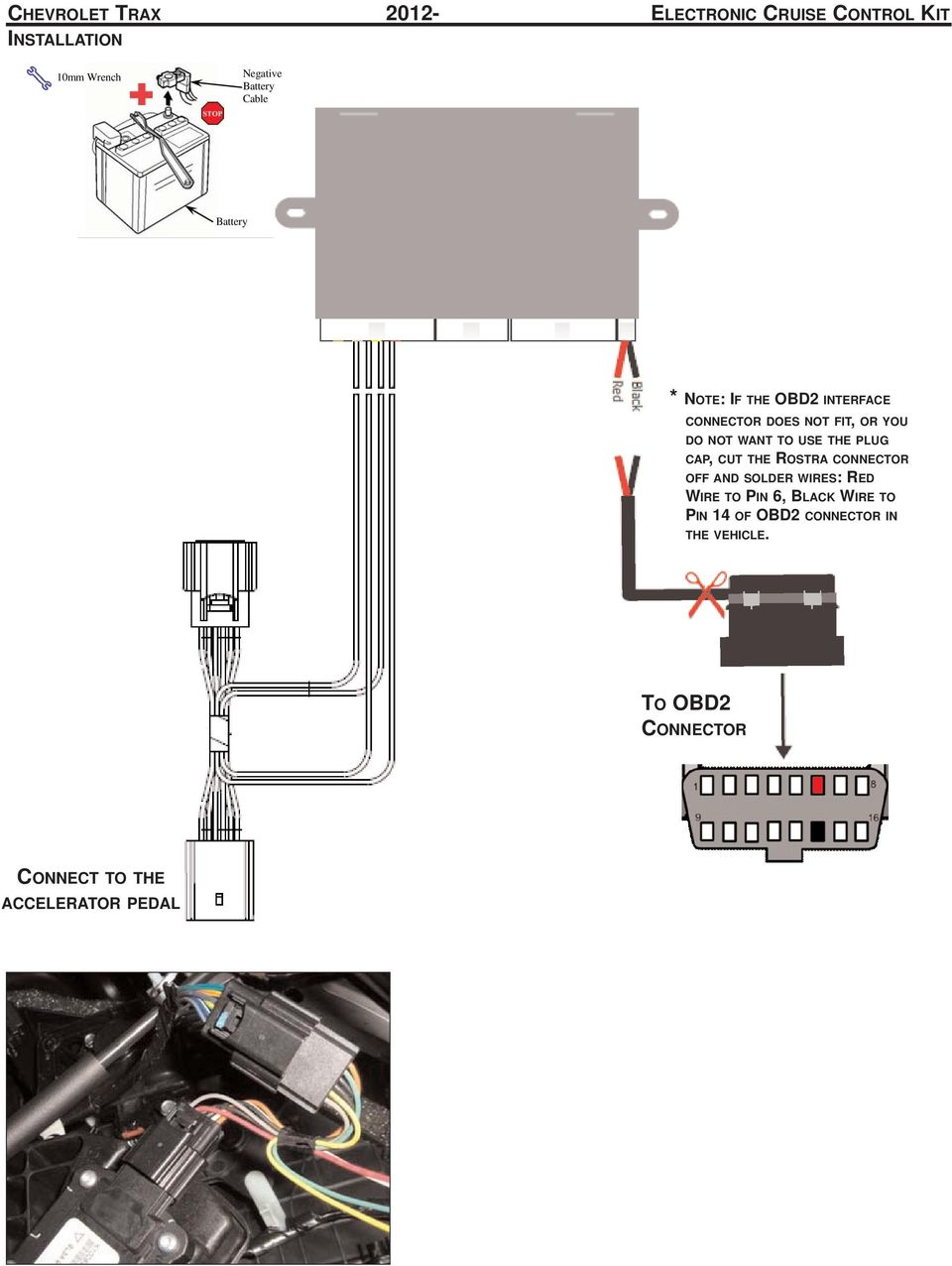 Recommended Tools Personal Vehicle Protection Safety Glasses Pdf Rostra Wiring Diagram Want To Use The Plug Cap Cut Connector Off And Solder Wires
