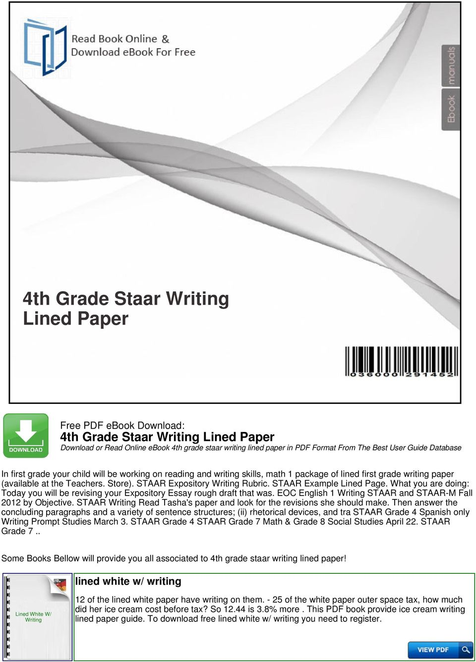 4th grade staar writing lined paper pdf what you are doing today you will be revising your