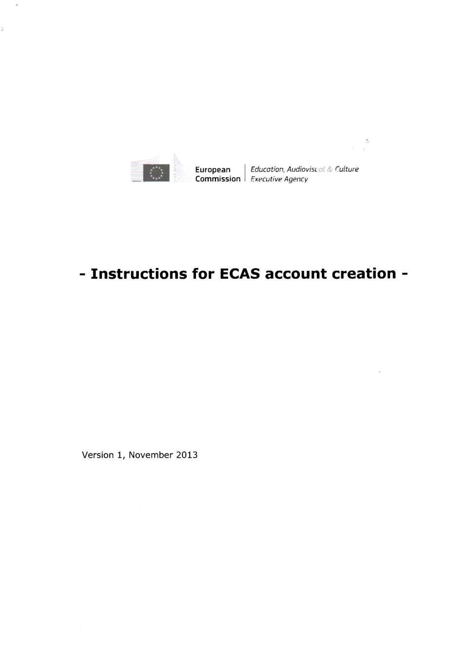 Culture - Instructions for ECAS