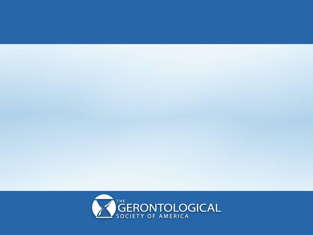 The Journals of Gerontology, Series B: Psychological Sciences and Social Sciences The Journals of Gerontology: Series B is a bimonthly journal of The