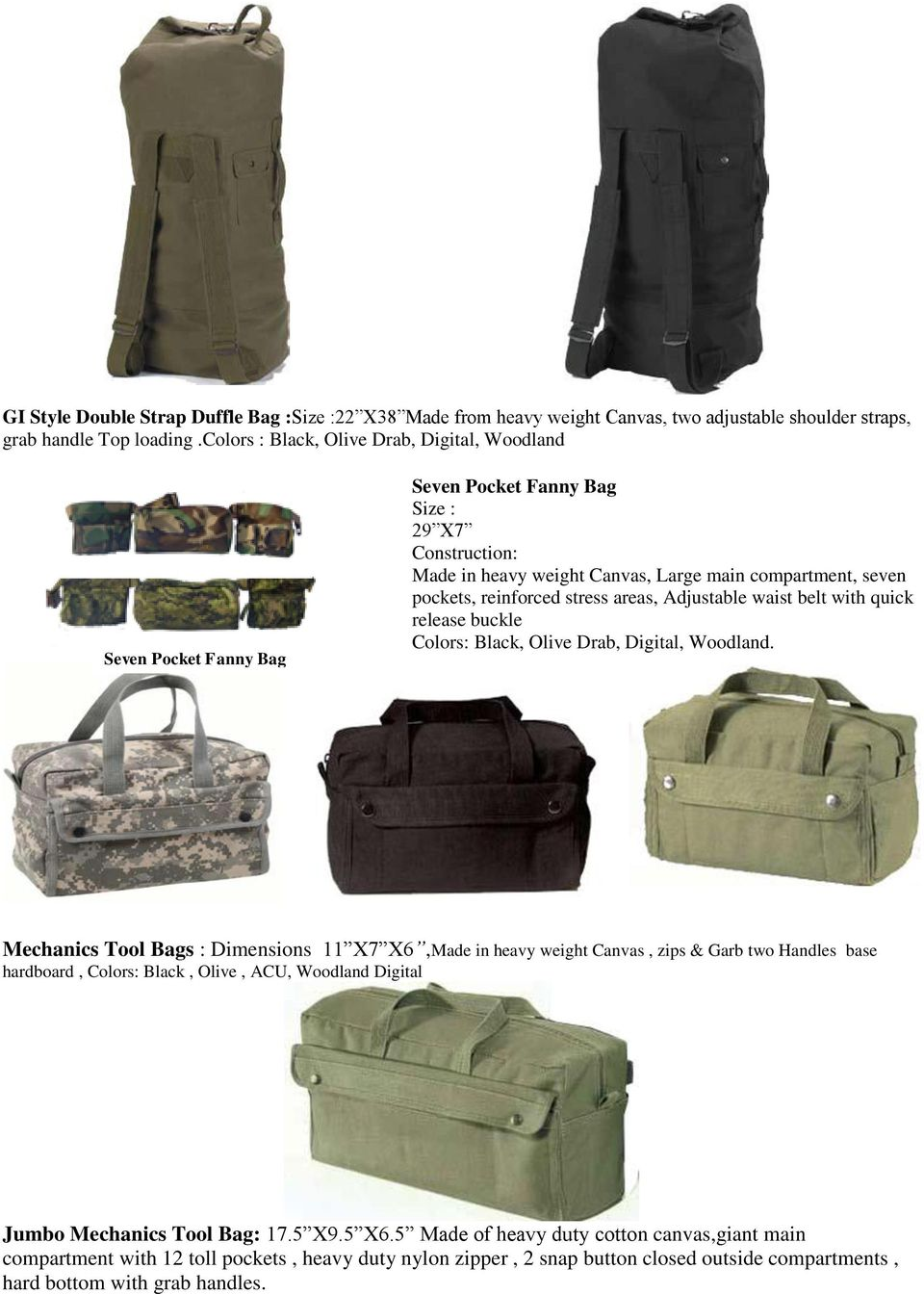 stress areas, Adjustable waist belt with quick release buckle Colors: Black, Olive Drab, Digital, Woodland.