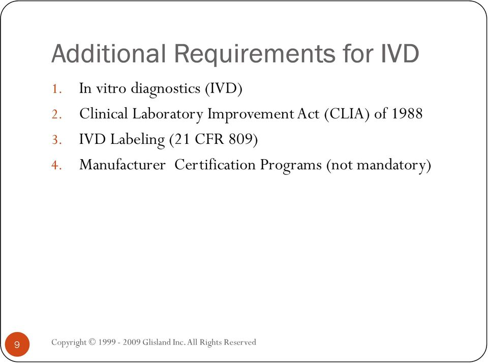Clinical Laboratory Improvement Act (CLIA) of 1988