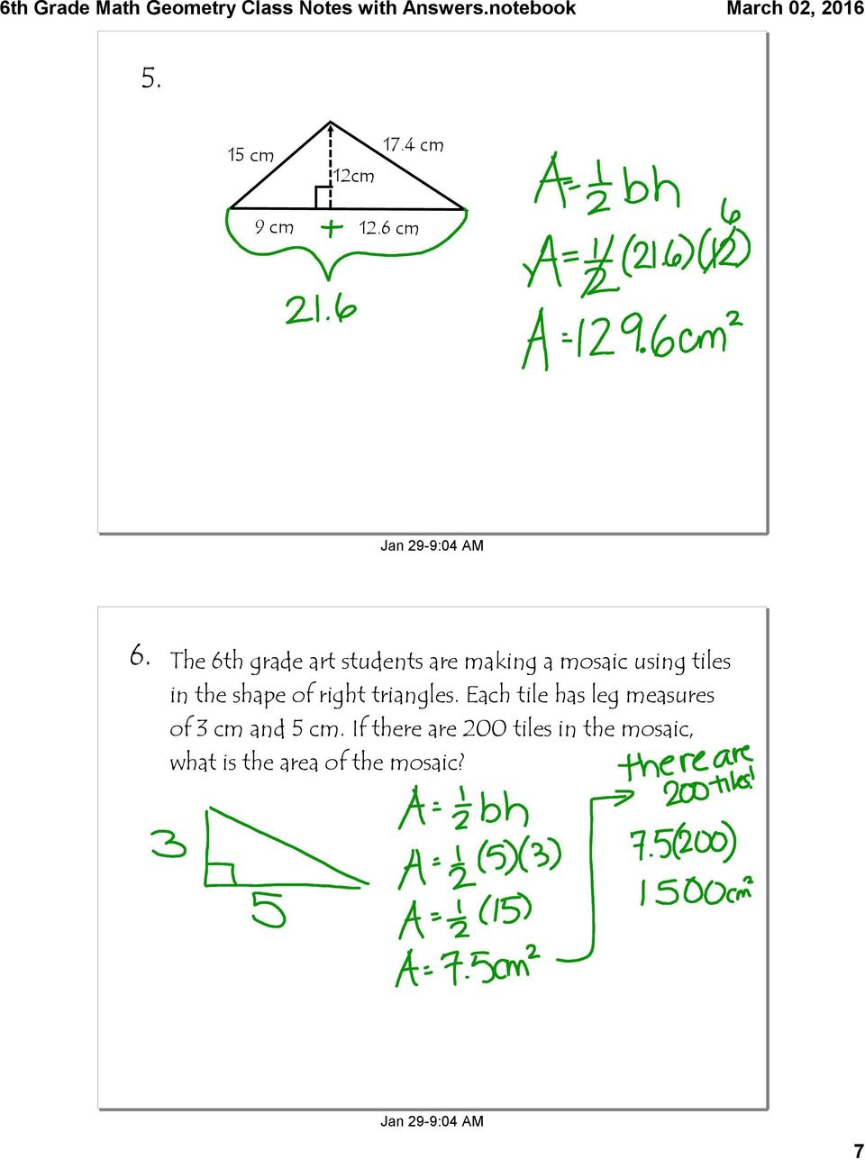 shape of right triangles.