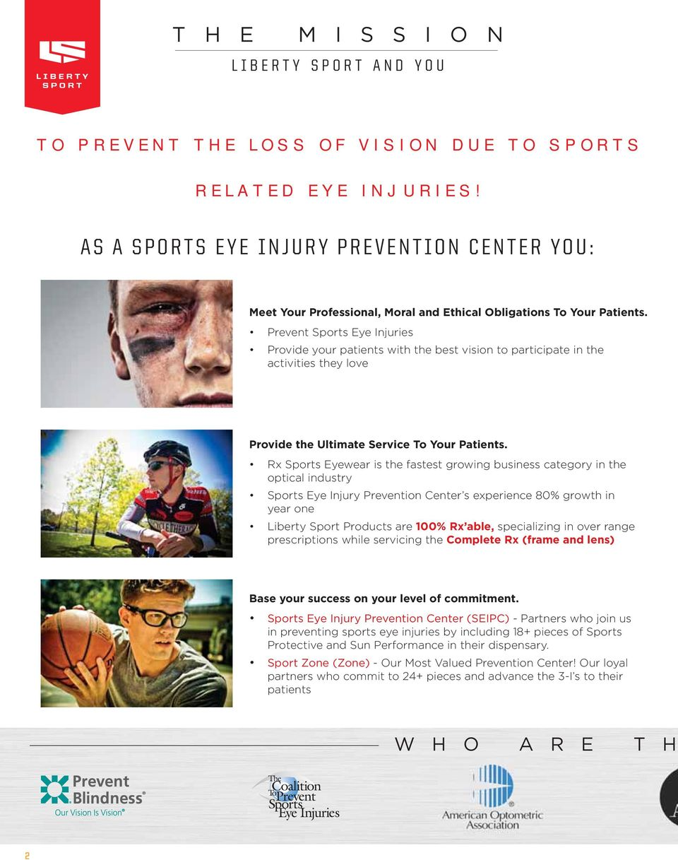 3e65978e6a x Sports yewear is the fastest growing business category in the optical  industry Sports ye Injury