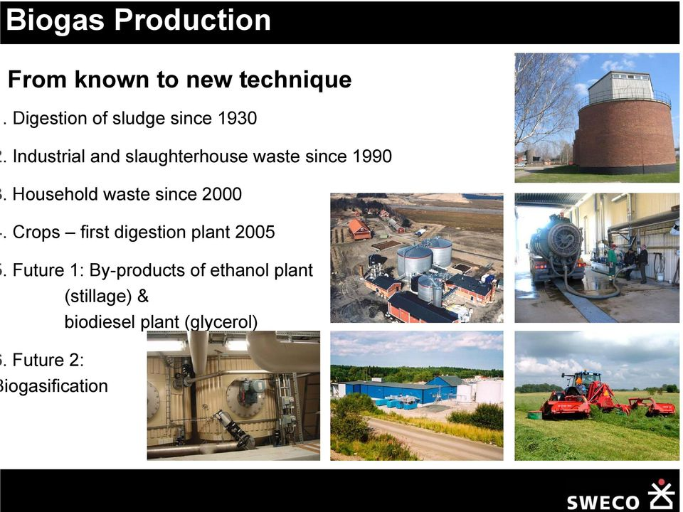 Industrial and slaughterhouse waste since 1990.