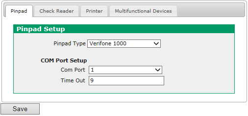 Updating PIN Pad COM Port Settings To reconfigure your VeriFone 1000SE PIN pad for use with the new COM port assignment, follow these steps: 1. From the Main Menu, click Preferences. 2.
