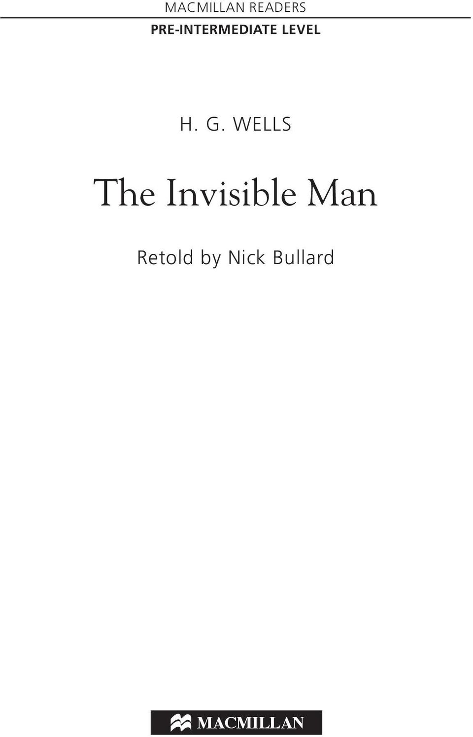 G. WELLS The Invisible