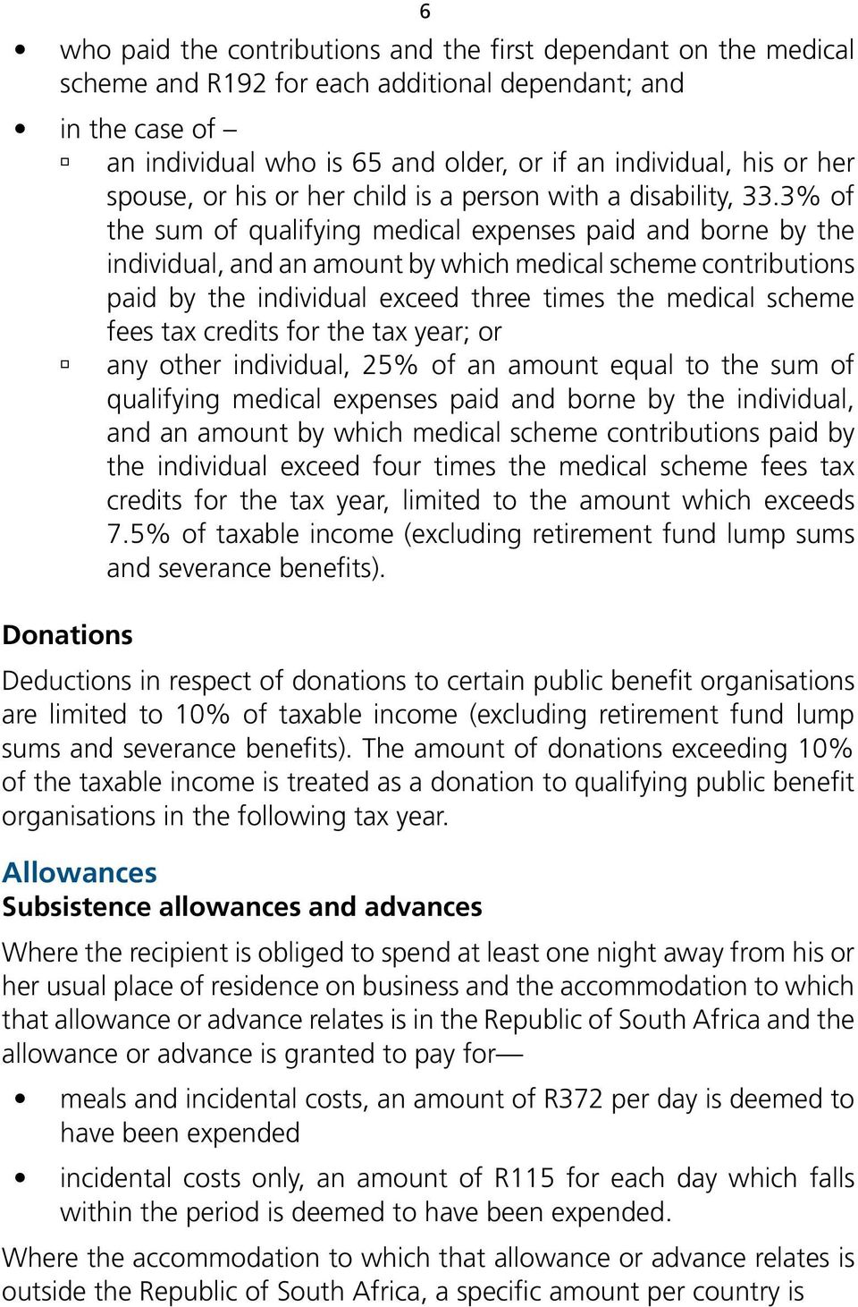 3% of the sum of qualifying medical expenses paid and borne by the individual, and an amount by which medical scheme contributions paid by the individual exceed three times the medical scheme fees