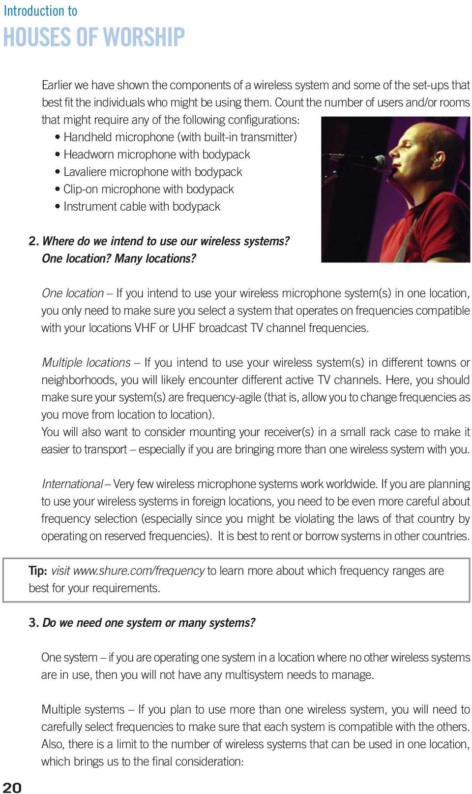 A Shure Educational Publication INTRODUCTION  Wireless