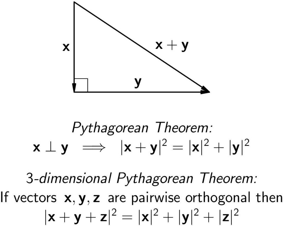 Theorem: If vectors x,y,z are pairwise