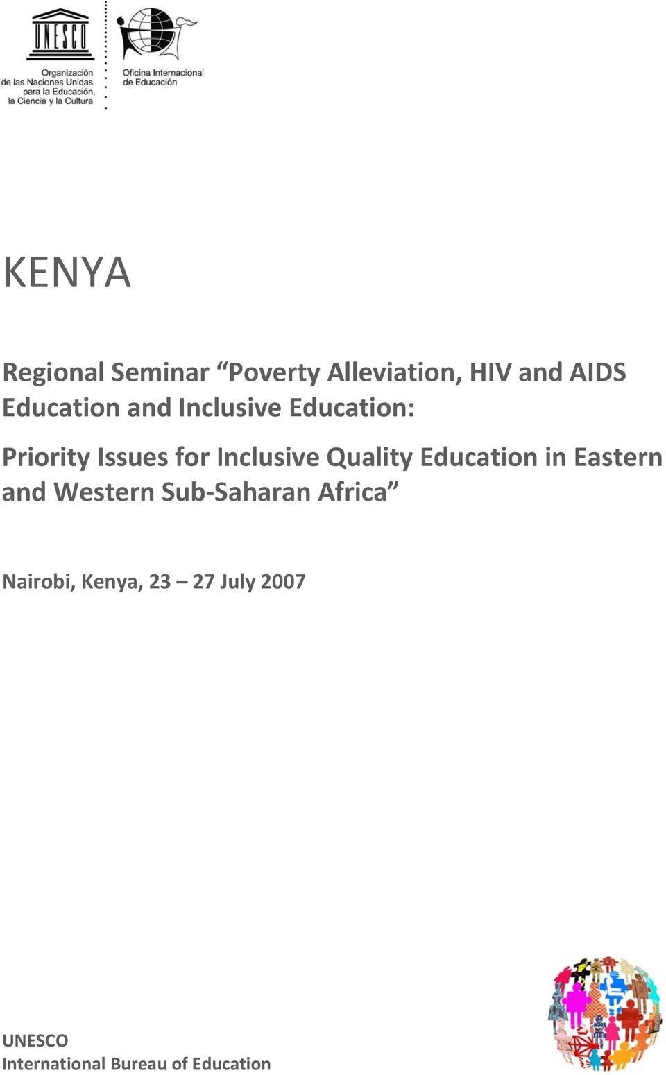 Inclusive Quality Education in Eastern and Western Sub Saharan