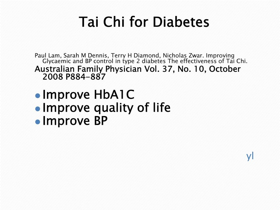 Improving Glycaemic and BP control in type 2 diabetes The