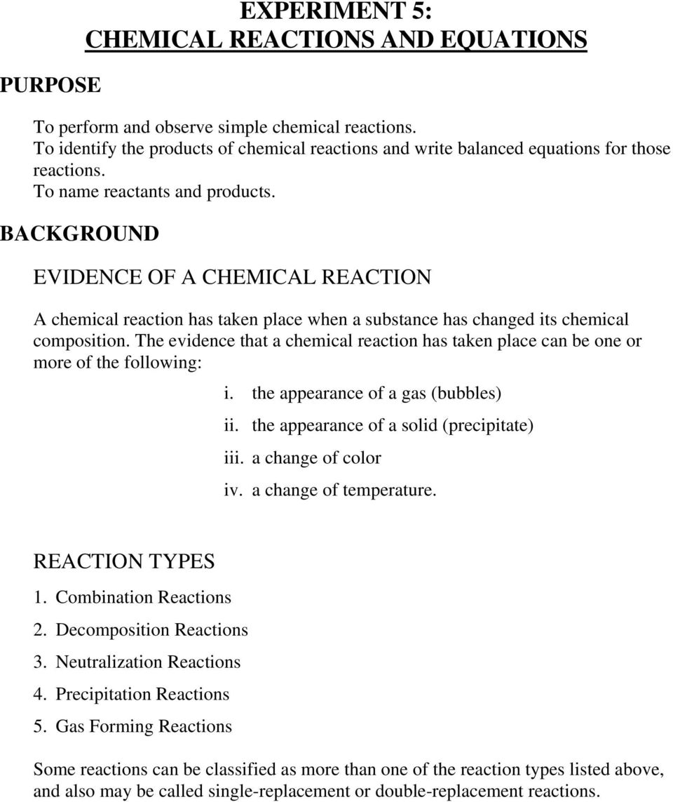 Double Replacement And Combustion Reactions Worksheet Kidz Activities