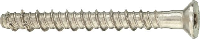 HUS-HR, CR, stainless steel Anchor version HUS-HR 6 / 8 / 10 / 14 Stainless steel concrete Screw with hexagonal head HUS-CR 8 / 10 Stainless steel concrete screw with countersunk head Benefits - High