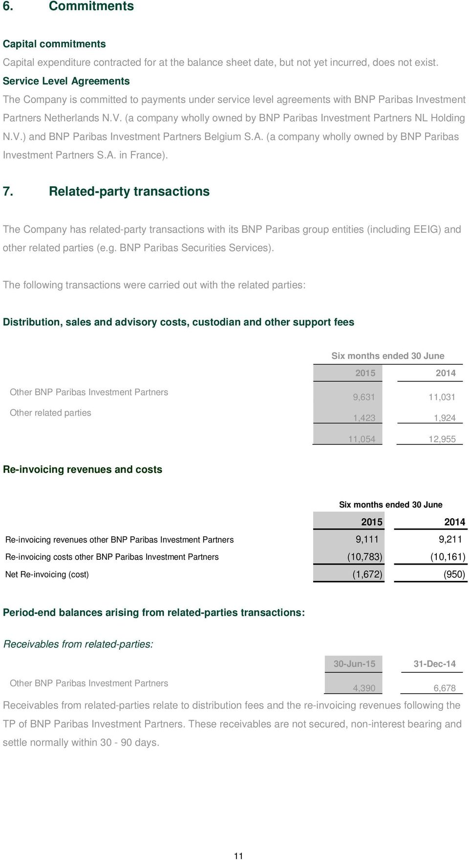 (a company wholly owned by BNP Paribas Investment Partners NL Holding N.V.) and BNP Paribas Investment Partners Belgium S.A. (a company wholly owned by BNP Paribas Investment Partners S.A. in France).