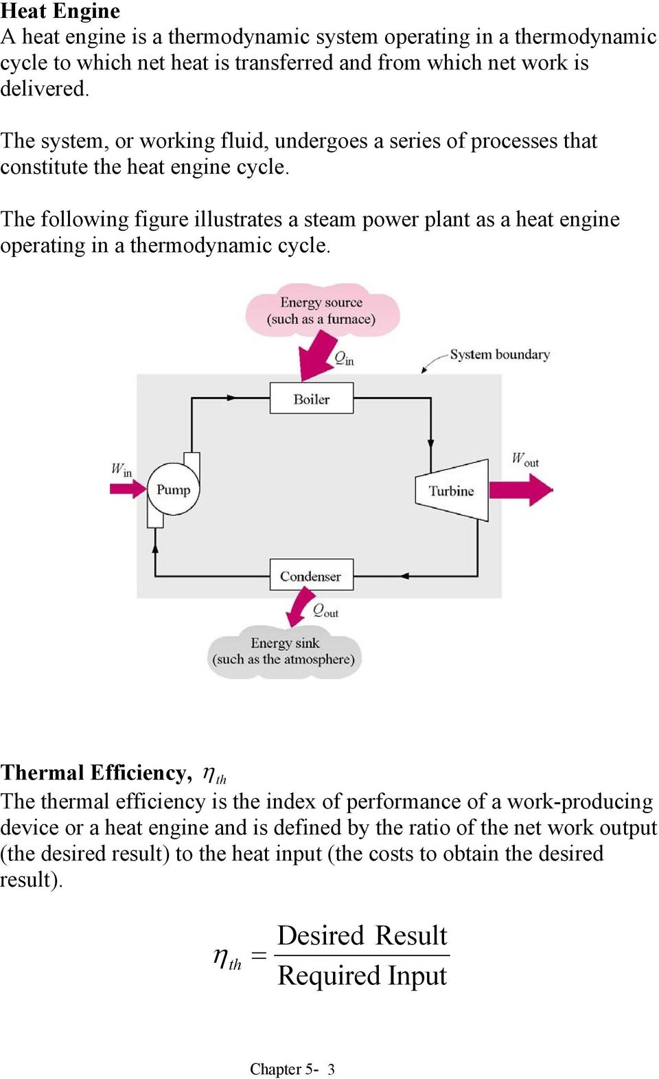 he following figure illustrates a steam power plant as a heat engine operating in a thermodynamic cycle.