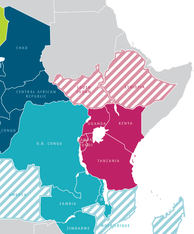 Further expansion of the EAC is planned Likely expansion of EAC over coming years EAC has existed since the colonial era, with Rwanda & Burundi joining in 2009 SUDAN ERITREA DJIBOUTI The most likely