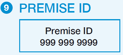 The Premise ID is unique for each premise. It remains the same even if there is a change in tenancy and/or account number.
