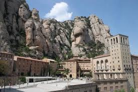 Montserrat Mountain located 30 km from Barcelona.