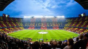 Camp Nou is the stadium of the worldfamous Barcelona FC.