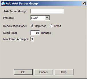 This newly created AAA server group is added in the list under the AAA Server Group
