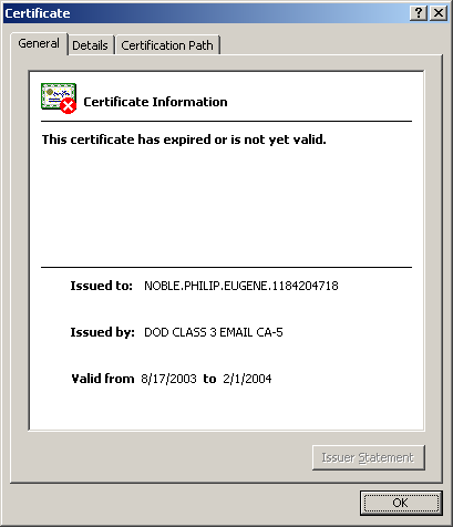 Verifying the Download (Cont d) Double-click on the certificate and you can view
