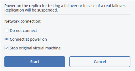 The original machine will be stopped. 5. In vsphere Client, right-click the replica, and then click Open Console. 6.