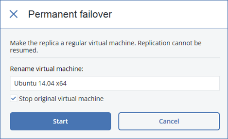 To learn more about VM replication, refer to the Acronis Backup 12 help: