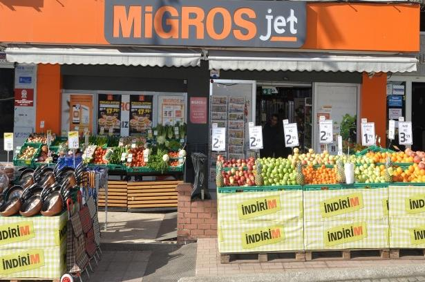 Migros Migros, Largest National Supermarket Chain Number of stores: 1,327* including 465 Migros Jet and 23 5M stores, Penetration: 71 cities (40**-4,500) sqm / (1,800** 18,000) SKUs Broad variety of