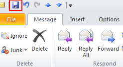 20 Microsoft Outlook 2010 Basics Edit a Received Mail Message If you like, you can add your own text to a message and save it back to the original folder. 1.