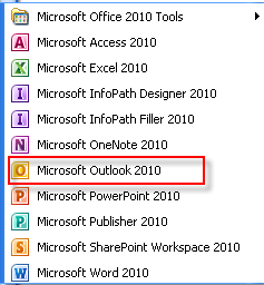Microsoft Outlook 2010 7 Getting Started with Microsoft Outlook 2010 Starting Microsoft Outlook You will use your Ulink Userid and password to enter your