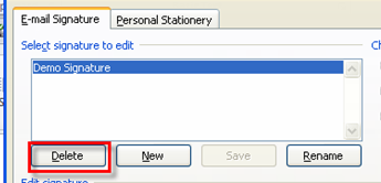 88 Microsoft Outlook 2010 Basics Delete a Signature If needed, you can delete a signature. 1. Click the New E-Items button. 2. Click the Signature dropdown button. 3.