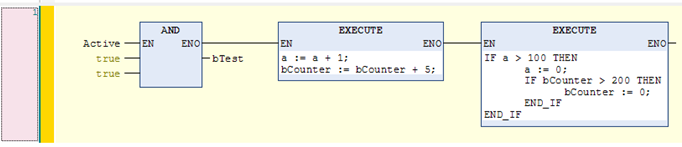 Engineering Inline ST code in the FBD / LD editors Support of Auto Declare Monitoring of precompile