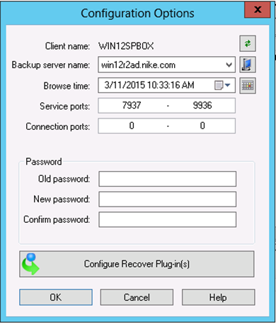 NetWorker Client Management Connecting to a NetWorker server This procedure describes how to use the NetWorker User for Microsoft GUI to connect to a NetWorker server. Procedure 1.