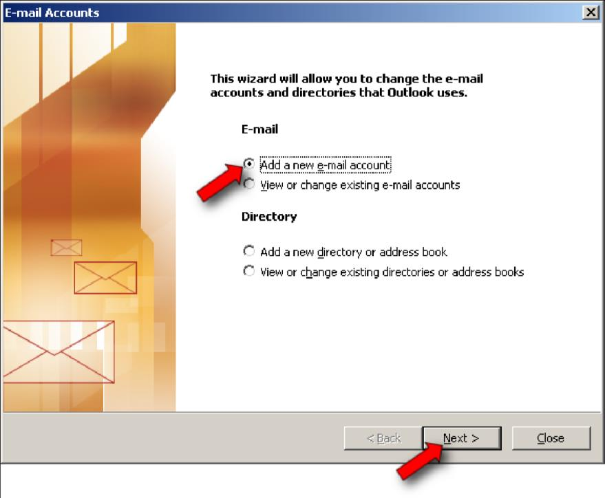 Account Setup To set up your new email account,