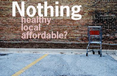 Food desert: Any area in the industrialized world where healthy, unprocessed food is absent or inaccessible.