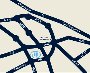 DIRECTIONS Hilton Milton Keynes offers an ideal setting in the central region of England.