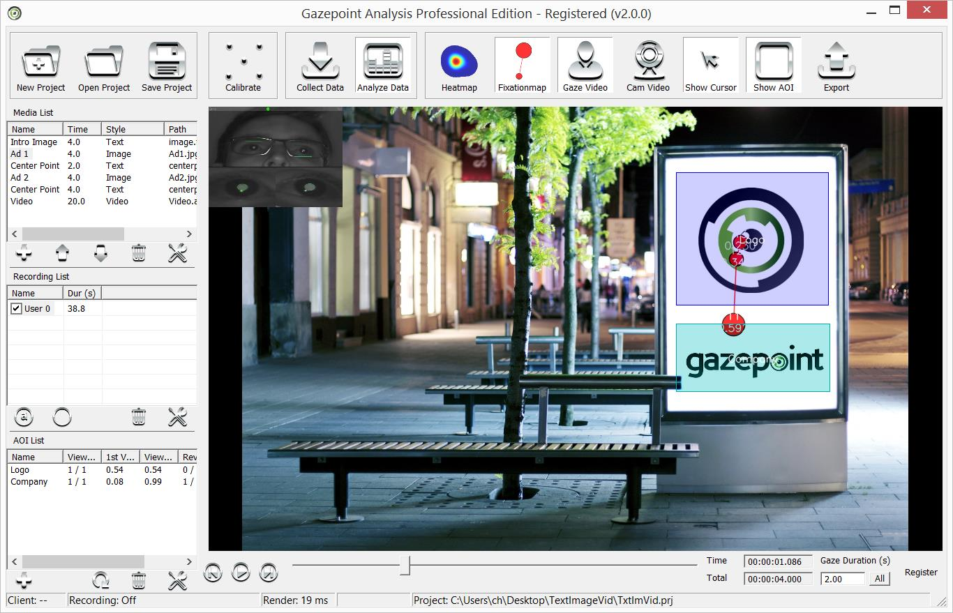 3 Registration The Gazepoint Analysis software package provides a free 30 day trial of the Professional version features.