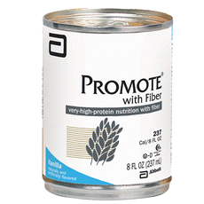 PROMOTE WITH FIBER is a complete, balanced, very-high-protein, and fiber-fortified formula for patients who need a higher proportion of calories from protein.