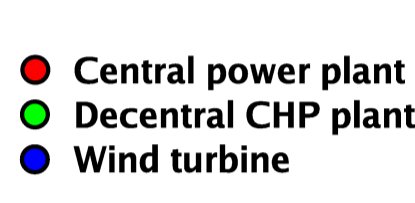 From centralised to de-centralised system CHP: combined heat and power from 15 power plants to 415 CHP and 5000 wind turbines DTU Wind Energy, Technical